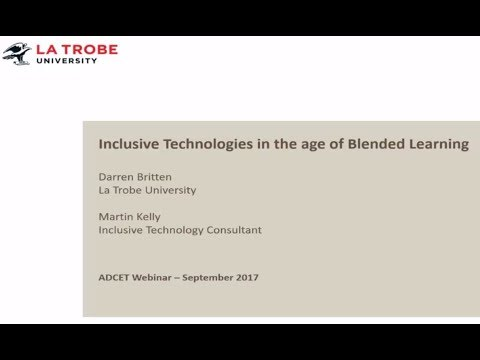 Inclusive Technologies in the age of blended learning