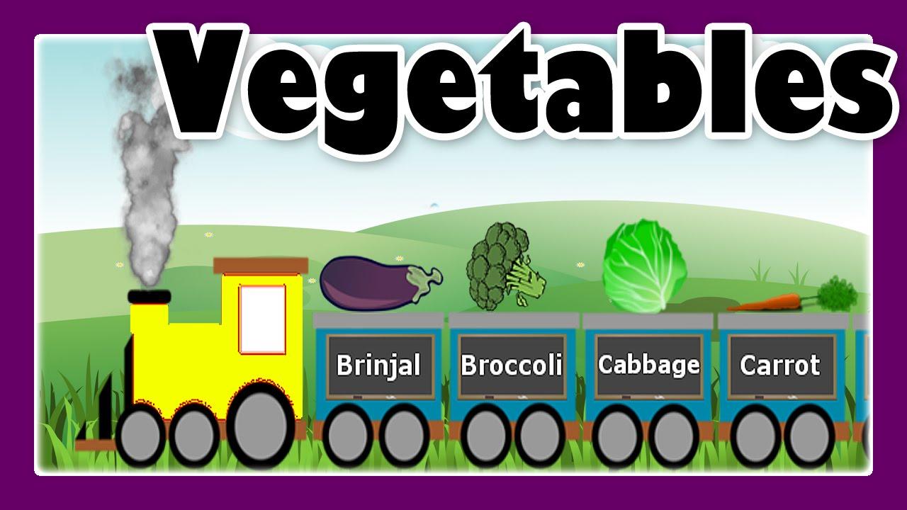 Vegetable Song with Vegetable Train for Children, Preschool Learning ...