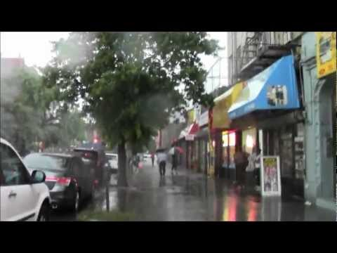 The Severe Thunderstorm of 8/15/2012 Brooklyn New York with commentary