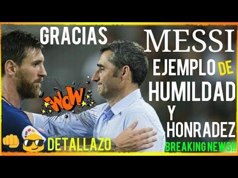¡¡MESSI BRUTAL DETALLAZO de HUMILDAD con VALVERDE!! ¡HAY SINTONÍA! ¡ÚLTIMA HORA! FCB NOTICIAS