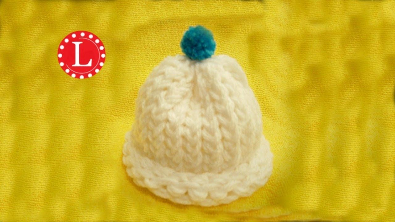 0f5a5432d72 Loom Knit Baby Hat Preemie   Newborn Hat - Start to Finish ...