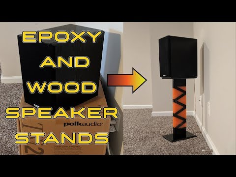 Epoxy and Wood Speaker Stands and Lessons Learned!