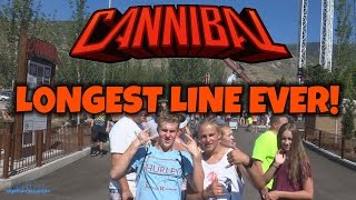 Longest Line EVER for Cannibal (HD) Lagoon Park