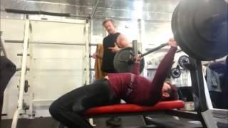 justine dohring at s w e a t 245lb bench press