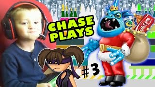 Chase Plays Everything Part 3! Santas Icy Butt, Perfect Block & Skylanders Trap Team (Face Cam)