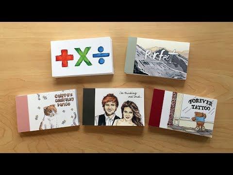 Five Flipbooks I gave ED SHEERAN!