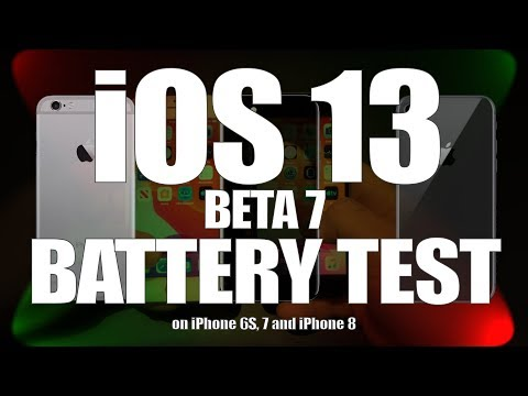 iOS 13 beta 7 battery life tests (Video)