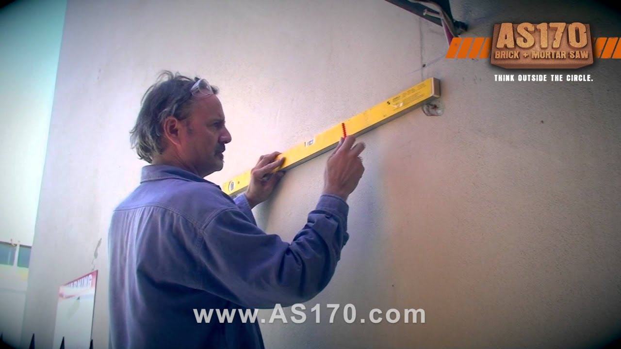 How To Cut A Brick Wall, Restoration, Renovation With The Arbortech AS170  Brick U0026 Mortar Saw   YouTube