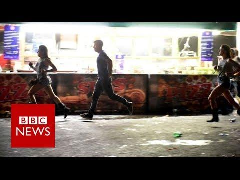 "Las Vegas Mandalay Bay Shooting: ""We just had to leg it""- BBC News"