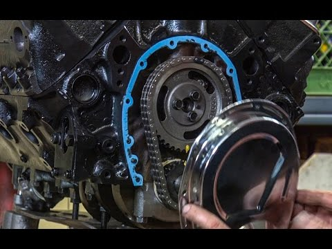 Installing a timing chain cover on a small block V8 #115