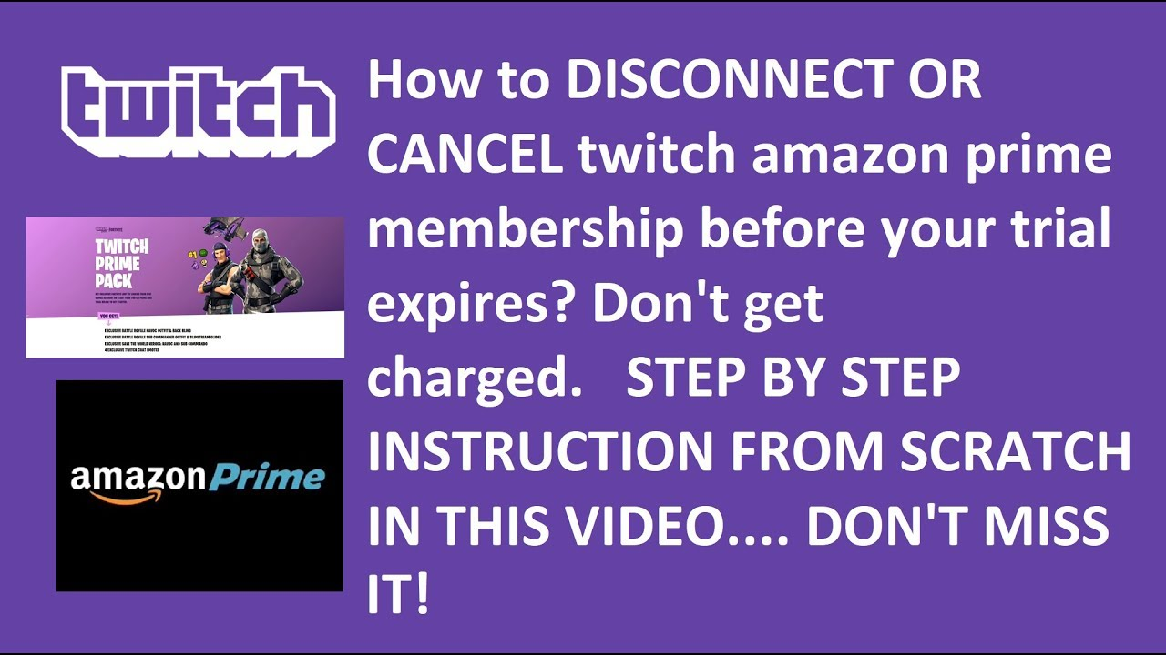 How To END or CANCEL Twitch Amazon Prime Membership? - YouTube