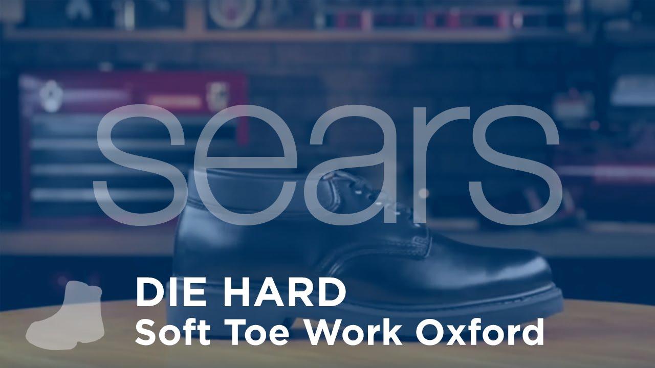 Die Hard Black Soft Toe Work Oxford - YouTube bce7ac40d
