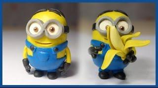 Лепим Миньона из пластилина. Minion made of clay.(Лепим смешного Миньона из пластилина. Minion made of clay. Миньоны - это очень забавные существа. Давайте попробуем..., 2015-07-17T15:40:26.000Z)