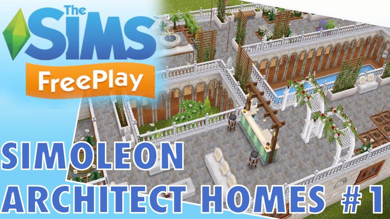 Sims Freeplay | NEW Simoleon Architect Homes   YouTube