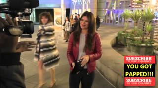 Danielle Vasinova talks about Kayne West fingers in the butt situation outside ArcLight Theatre in H
