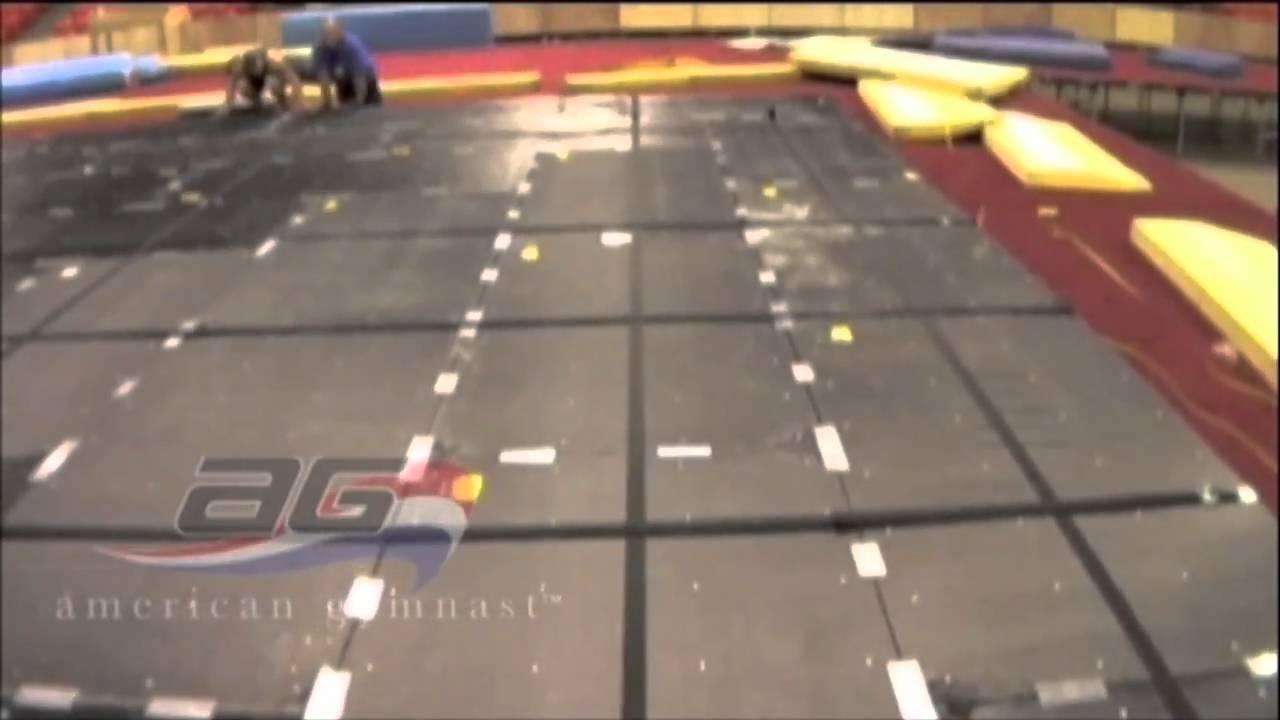 Aai Elite Floor Exercise Gymnastics Equipment Youtube