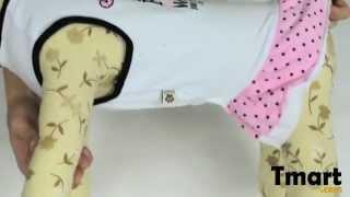 $6.86 Pet Dog Skirt Printed Dress White Size Xl-15001243