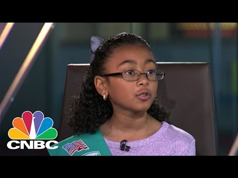 One Smart Cookie! 9-Year Old Girl Scout Uses Tech Smarts To Capture Top Sales Spot | CNBC