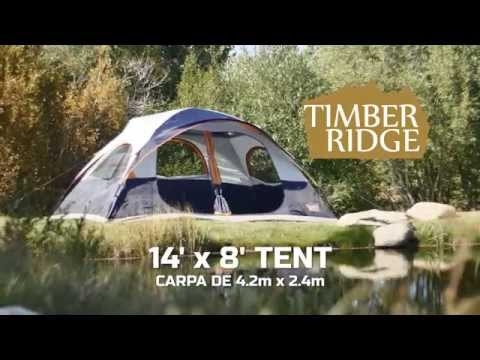Timber Ridge Tents 14u0027 x 8u0027 Dome Tent Setup & Timber Ridge Tents 14u0027 x 8u0027 Dome Tent Setup - YouTube