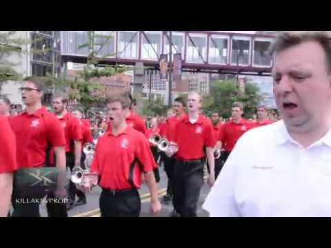 Ohio State University Marching Band @ the 2016 Cleveland Cavaliers Championship Parade