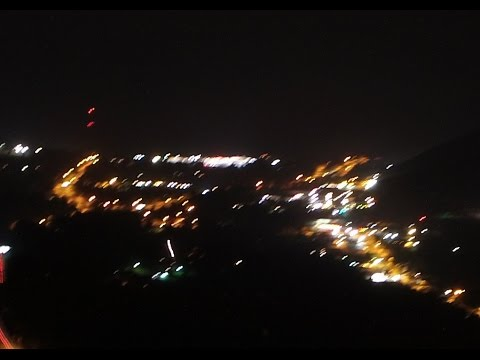 DJI Inspire 1 Drone - Outline of the USA (LaVale, Maryland) Night Flight 4k