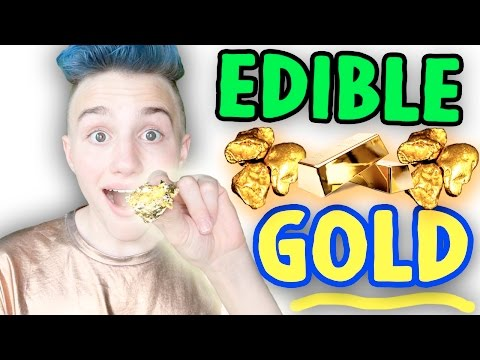 TRYING REAL EDIBLE GOLD ! Eating $1K in GOLD