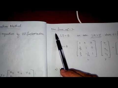 LU Method Solved Example