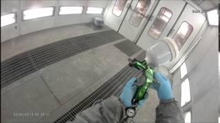 スプレーガンのセッティング方法。岡山有愛新車体IWATA.WS400.EVO.HD1.3 thumbnail