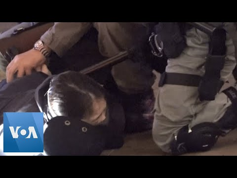 Hong Kong Police Disperse Lunar New Year Protest