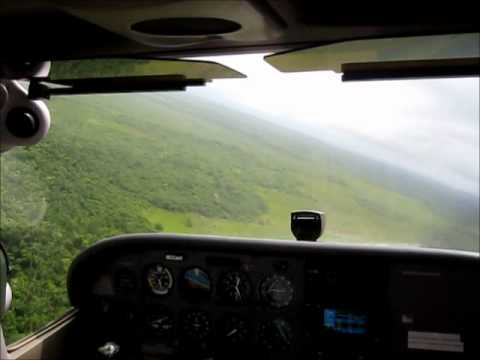 Trop Air Flight from Ambergris Caye landing in Belize City 2011