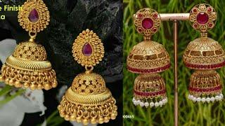 1 GRAM GOLD JHUMKA DESIGNS COLLECTION ||ONE GRAM GOLD BUTTALU ||ONE GRAM GOLD EARRINGS