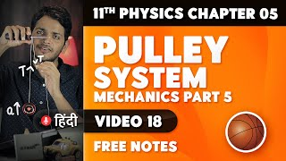 Pulley system | Mechanics part 5 | 11th Physics Chapter 5 Video 18
