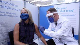 Katie Couric Gets Her Flu Shot