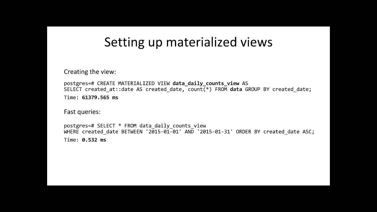 Real Time Analytics with PostgreSQL