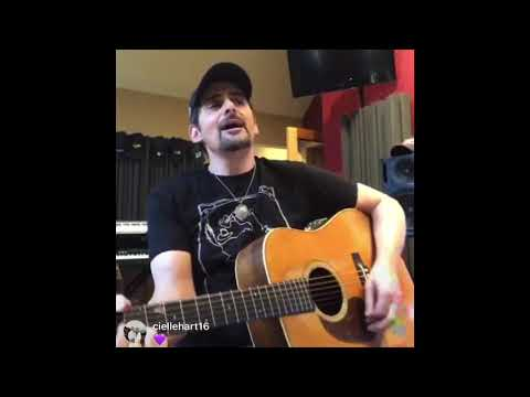 Brad Paisley Does I'm Gonna Miss Her. Instagram Live
