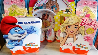 2017 Smurfs The Lost Village & Barbie NEW Toys in Kinder Surprise Eggs Opening | Polish Star Wars Collector