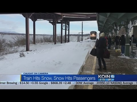 Thumbnail: Train hits snow, snow hits passengers