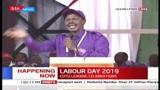 KNUT Secretary General Wilson Sossion\'s speech during 2019 Labour Day Celebration