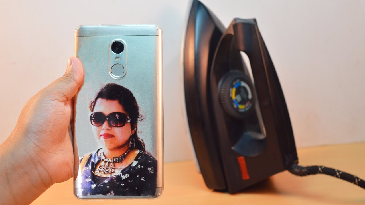 super popular a9b2b 48170 How to Print Your Photo on Mobile cover at Home - Using Electric Iron