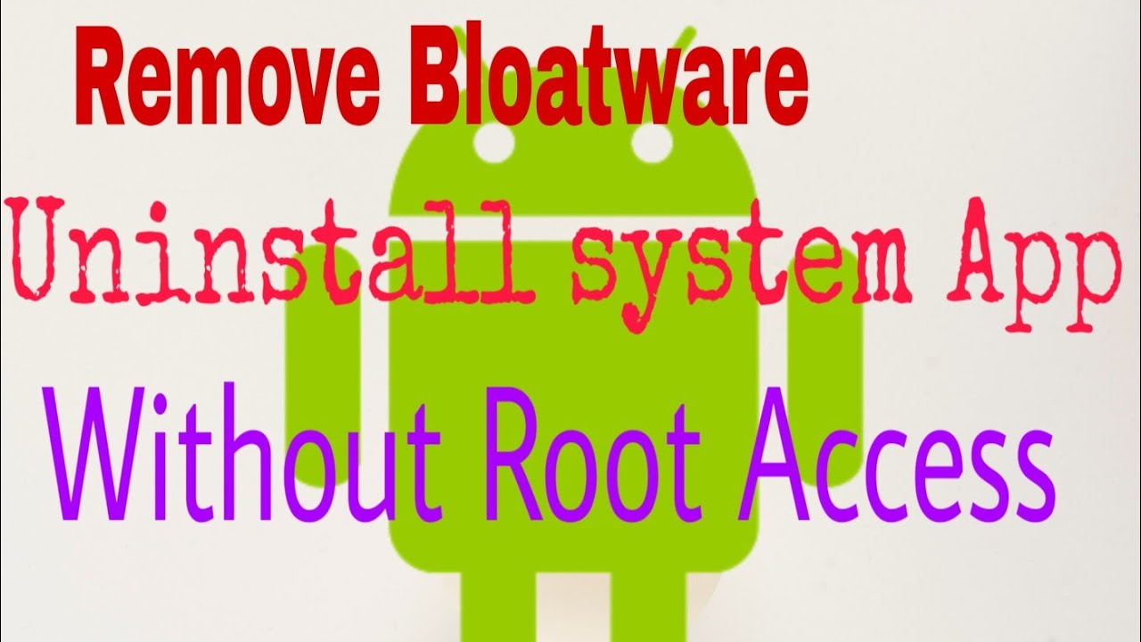 Remove Bloatware/System App from Your Android Device Without Root Access by OEM Unlock