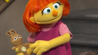 Repeat youtube video Sesame Street Adds New Puppet Meet Julia! The Autistic New Kid On The Block!