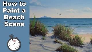 time lapse tropical shore beach scene acrylic painting tutorial