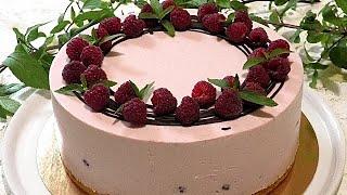 Из простых продуктов МУССОВЫЙ ТОРТ с малиной Raspberry mousse cake