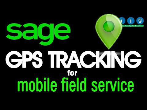 GPS Tracking - Sage 100 Mobile Field Service