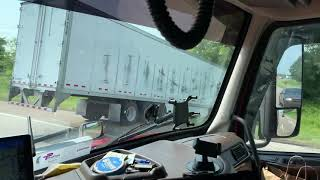 Semi truck lost control - i40 S in Arkansas 7/30/21 3:40pm Power Only Trucking Fails