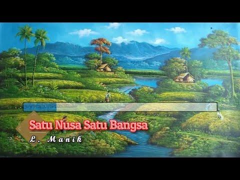 [Midi Karaoke] ♬ L. Manik - Satu Nusa Satu Bangsa ♬ +Tanpa Vokal +Lirik Lagu [High Quality Sound]