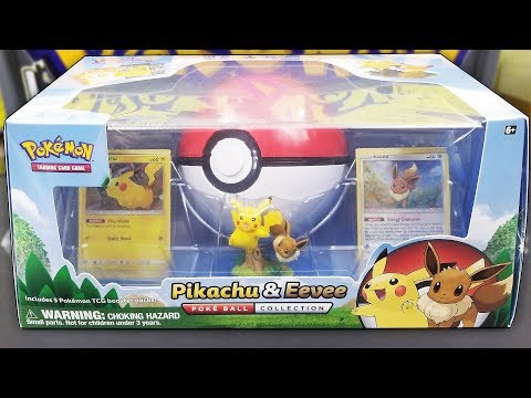 Pokemon Pikachu & Eevee Pokeball Collection Box Opening!