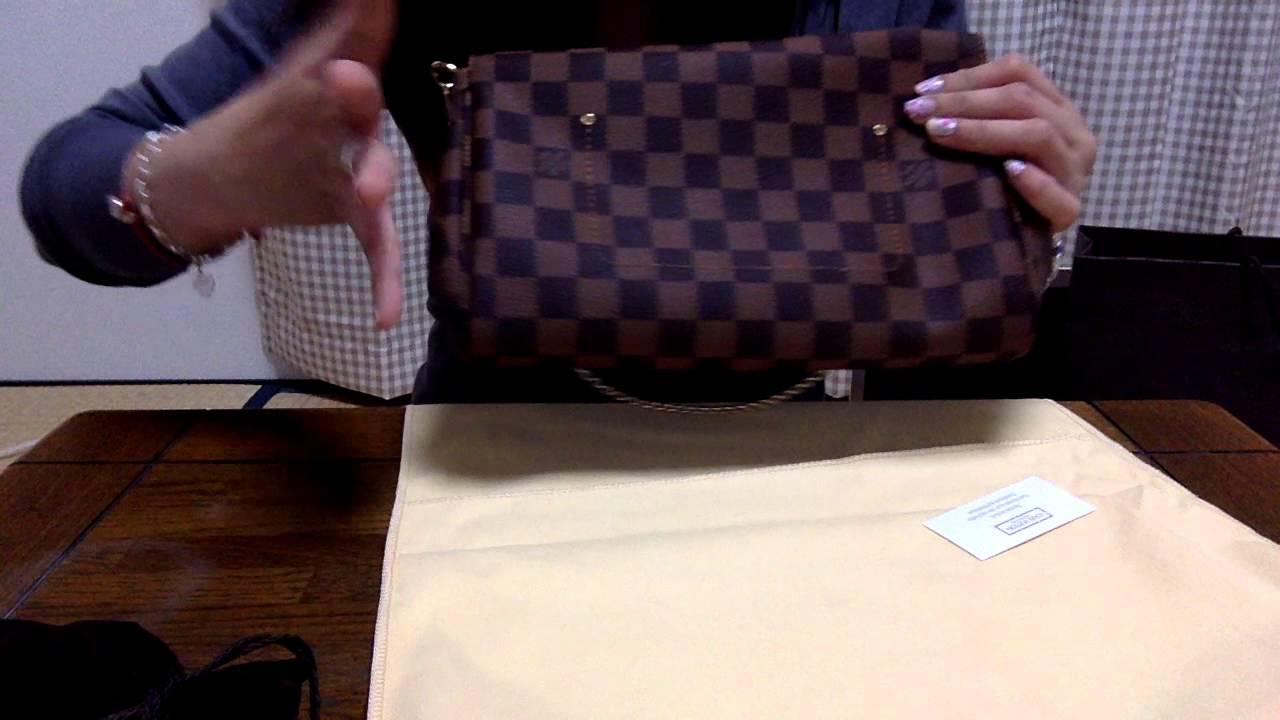 5b87c08d9773 Silent Unboxing  Louis Vuitton Favorite MM (Damier Ebene) - YouTube