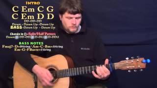 Stone Cold (Demi Lovato) Guitar Lesson Chord Chart - Capo 1st