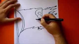 Como dibujar una bandera pirata paso a paso  | How to draw a pirate flag